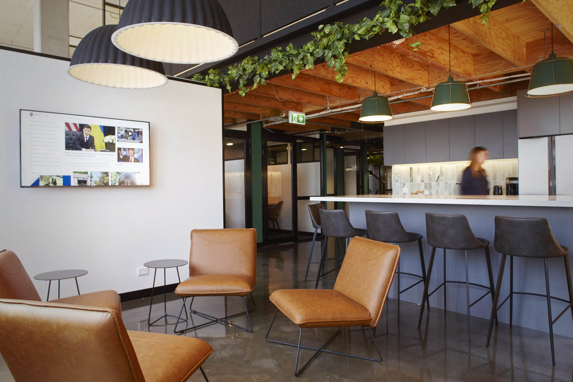 kitchen, breakout, breakout area, collaborative, richmond, cremorne, Coworking, Shared Office Space, Flexible Office Space, Premium, Professional.